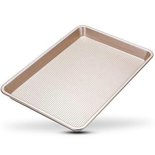 Nonstick Quarter Sheet Baking Pan – 9 x 13 Quarter Baking Sheet Pan Cookie Sheet-Kitchen mat-Baking sheet-Cookie sheet-Kitchen set-Baking pans-Sheet pan-Baking sheets-Baking sheets for oven