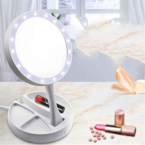 Maquillage Miroir Hmj Maquillage Miroir Led Light Vanity Mirror Make Up Mirrorsled Grossissant Magnifying