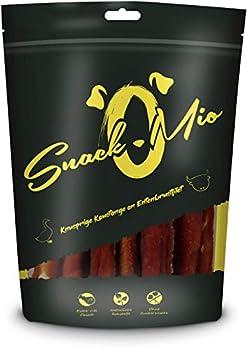 SnackOMio Barre à Mâcher Croustillante à Base de Filet de Poitrine de Canard Mâcher Premium pour Chien 200 g