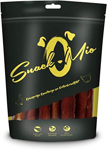 SnackOMio Knusprige Kaustange an Entenbrustfilet Premium Kausnack für Hunde, 200 g, 1er Pack (1 x 0.2 kilograms)