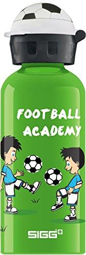 Sigg Jungen Trinkflasche Football Academy, Grün/Bunt, 400 ml