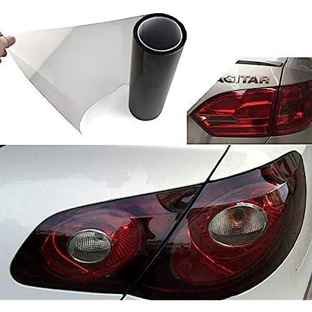 Auto Scheinwerfer Folie Tönungsfolie Aufkleber 200x30cm Scheinwerfer Rückleuchten Nebelscheinwerfer Aufkleber Hellschwarz Auto