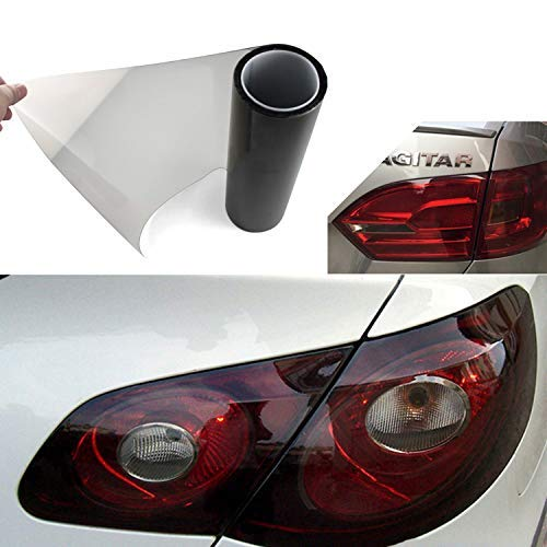 YAOBLUESEA koplamp kleurfolie auto folie achterlichten mistlampen stickers 200x30cm zwart