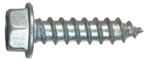 The Hillman Group 70277 8 x 3/4-Inch Hex Washer Head Slotted Sheet Metal Screw, 100-Pack,Zinc