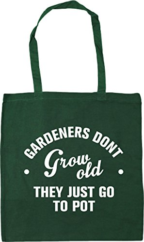 HippoWarehouse Gardeners don't grow old they just go to pot Tote Shopping Gym Beach Bag 42cm x38cm, 10 litres