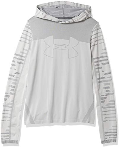 Under Armour Boys' Seamless Training Hoodie, Mod Gray (012)/Pitch Gray, Youth X-Small