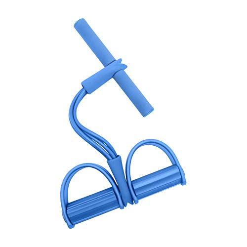 Sit Up Pull Rope Abdominal Exerciser, Pedal Resistance Bands Set Women, Pedal Resistance Band with Handle, Elastic Pull Rope Fitness Equipment (Blue)