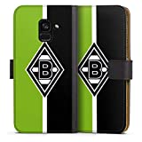 DeinDesign Klapphülle kompatibel mit Samsung Galaxy A8 Duos 2018 Handyhülle aus Leder schwarz Flip Hülle Gladbach Borussia Mönchengladbach B&esliga