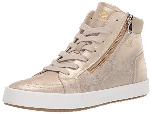 Geox Damen BLOMIEE 11 Fashion HIGH TOP Sneaker with Zipper Turnschuh, Taupe, 41 EU