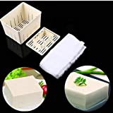 Mangocore Plastic Tofu Press Mould DIY Homemade Tofu Maker Pressing Mold Kit + Cheese Cloth Kitchen Tool Tofu Mold