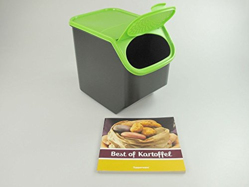 TUPPERWARE Kartoffel-Lager 8,3 L grün schwarz + Kochbuch Best of Kartoffel P 24687