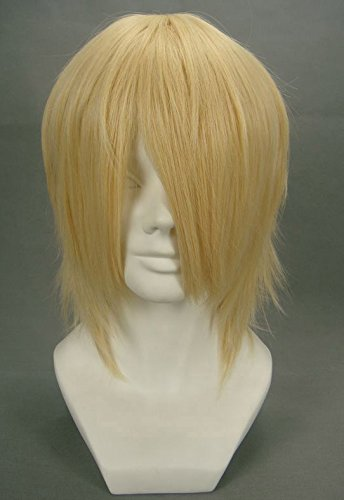 JapanAttitude Perruque Blonde Courte 32cm, Cosplay Final Fantasy 13, Kindom Heats Snow