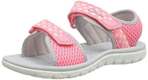 Clarks Girl's Surfing Tide Open Toe Sandals, Pink Pink Combi Pink Combi, 9...
