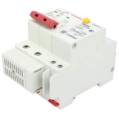 SALUTUYA Disyuntor de 2 Polos Operación con manija Disyuntor en Miniatura de 4.5KA Protección contra sobrecarga Cableado Frontal Interruptores de Aire para Sistema de distribución de energía
