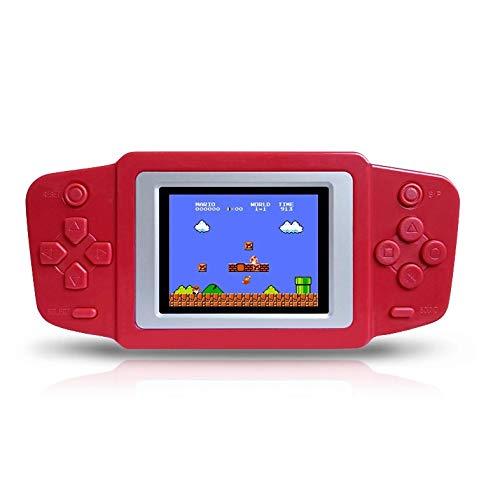 """Digitalkey Retro Consolas de Juegos Portátil Game Console Pantalla LCD 2.5"""" con 268 Classic 80s Old School Videojuegos - Versión Recargable (Rojo)"""