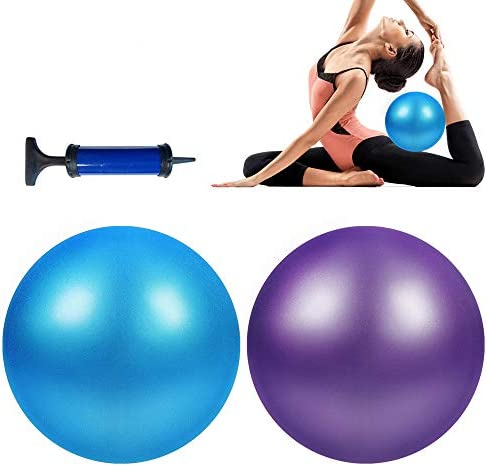 Wekin Yoga Mini Stability Ball 9 Inch Exercise Pilates Ball for Back Foot Neck Spine Shoulder product image