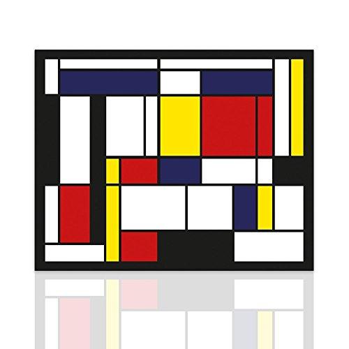 Marco para el homenaje de dormitorio Piet Mondrian. Cuadro listo para colgar con estructura de madera hecha a mano. Diseño-Colorscrazy