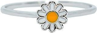 Pura Vida Silver Daisy Ring .925 Sterling Silver Ring, 5-9