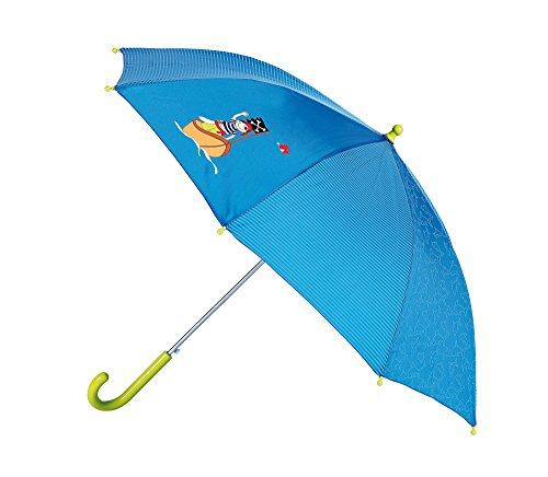 sigikid, Jungen, Regenschirm mit Pirat Sammy Samoa, Blau/Grün, 23291