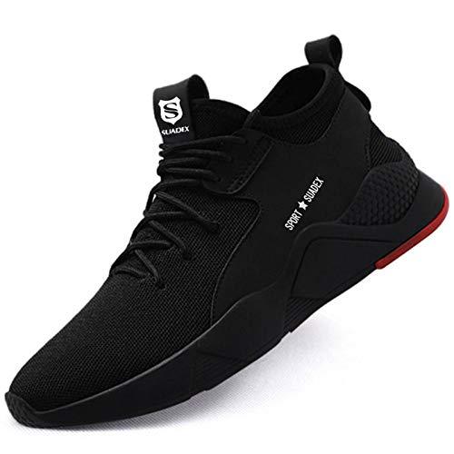 Zapatos de Seguridad Hombre Zapatos de Seguridad Mujer Ligeras Transpirable con Puntera de Acero Zapatos de Trabajo de Industria