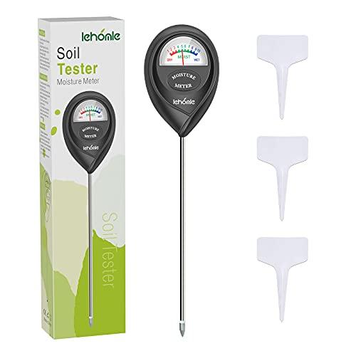 lehomle Soil Moisture Meter - Plant Water Meter - Moisture Meter for House Plants, Plant Care Tools-Black