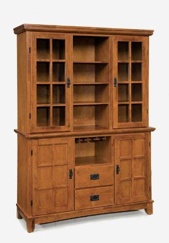 Big Sale Best Cheap Deals Home Style 5180-697 Arts and Crafts Buffet and Hutch, Cottage Oak Finish