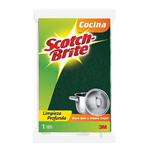 3M Scotch-Brite Fibra Esponja, Tamaño Grande