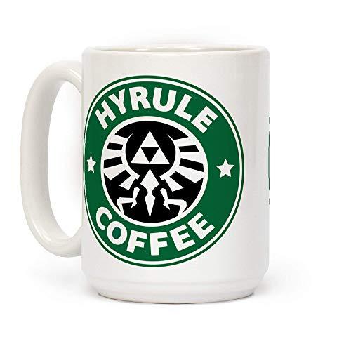 N\A Taza de café de cerámica Blanca Hyrule Coffee
