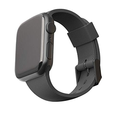 [U] by UAG Compatible with Apple Watch Band 40mm 38mm, iWatch Series 6/5/4/3/2/1 & Watch SE, Soft Stylish Dot Silicone Pattern Sport Replacement Strap, Black
