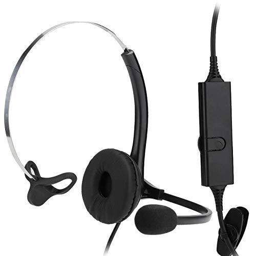 DAUERHAFT Breitband-HD-Lautsprecher Ultraweiche, langsam abprallende Ohrenschützer Rauschunterdrückung Telefon-Kopfhörer-Callcenter-Headset für Langzeittrage