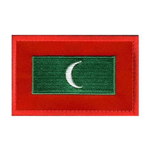 Aufnäher mit Malediven-Flagge, bestickt, militärisch, taktisch, Moral