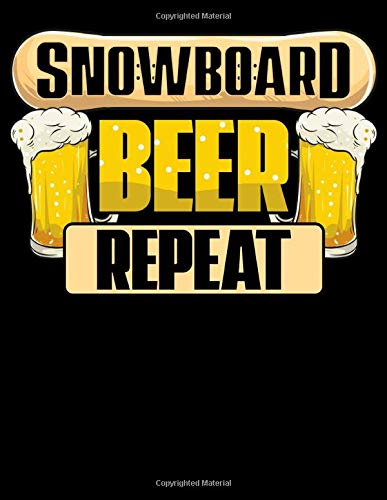 Snowboard Beer Repeat: Snowboard Beer Repeat Funny Snowboarder Mountain Party Blank Comic Book Notebook - Kid's Storyboarding (120 Comic Template ... 11