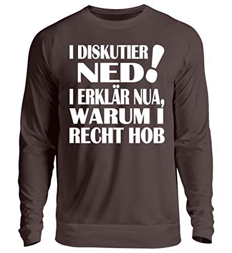 I DISKUTIER NED - Bayerisch · Boarisch · bayrisch · Shirt · lustig · Spruch · Pulli · Jack - Unisex Pullover -L-Schokolade