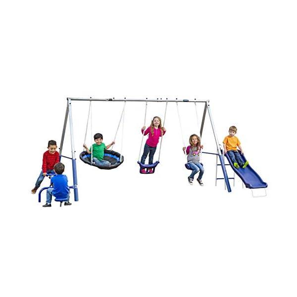 XDP Recreation Free N' Swing Swing Set, Gray