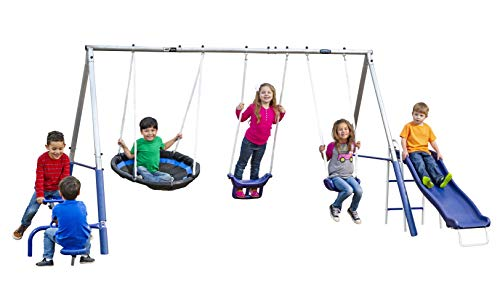 XDP Recreation Free N' Swing Swing Set, Gray