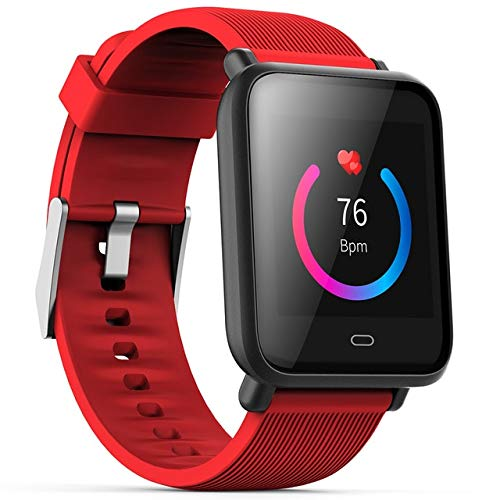Multi-Dial Q9 Smartwatch IPX67 Waterproof Sports For Android IOS With Heart Rate Monitor Blood Pressure Functions Smart Watch Red Universal