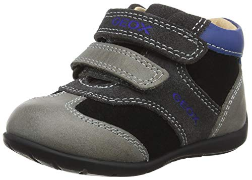 Geox Baby-Jungen B Kaytan A Sneaker, Grau (Black/Dk Grey C0005), 23 EU