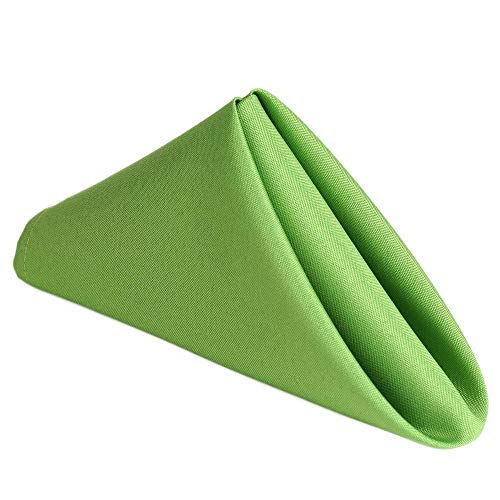 AHOLTA DESIGN Stain Resistant Green Cloth Dinner Napkin - Washes Easily Non Iron - Thanksgiving Christmas Dinner Decor Thanksgiving Wedding New Year, Apple Green Napkin 17'x17' 5PCs