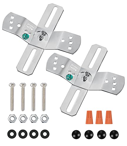 Light Fixture Mounting Bracket,4' Universal Crossbar,Mount Bracket Light Crossbar with Screws and Nuts,Rotatable and Fixed.Used for Pendant Lamps,Wall Lamps and Living Room Lamps,2 Pack.