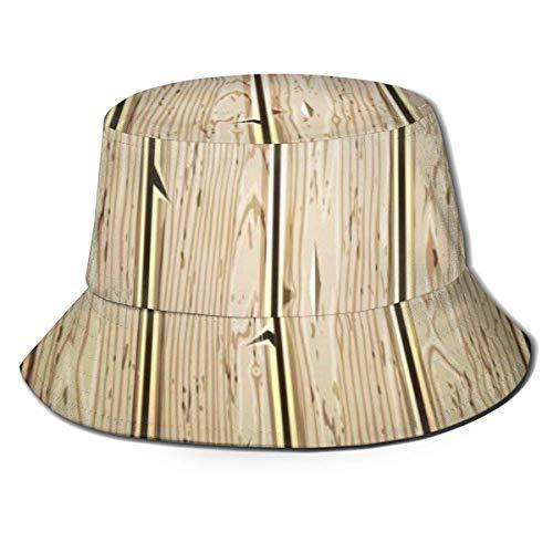 BeiBao-shop Gorras Sombrero de Pescador de Textura Pintada de Madera Vieja Sombrero de Pescador Sombrero antivaho de ala Grande