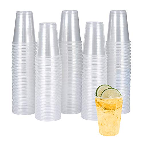 300 Pack 7 OZ Clear Plastic Cups,Disposable Drinking Cups,7 Ounce Cups-Party Cups Water Cups Ideal...