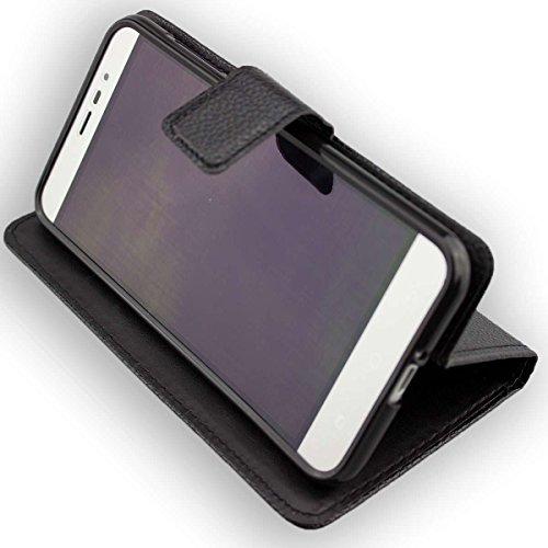 caseroxx Handy Hülle Tasche kompatibel mit Medion P5006 MD 60752 Bookstyle-Hülle Wallet Hülle in schwarz