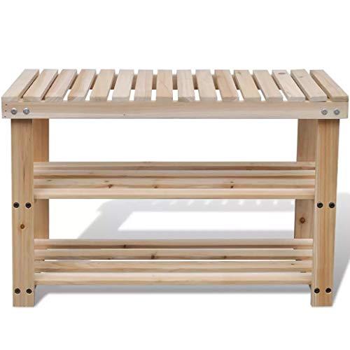 GOTOTOP - Banco de zapatos de 3 niveles, organizador de almacenamiento con asiento y estante para entrada, sala de estar, pasillo, 70 x 29 x 45 cm