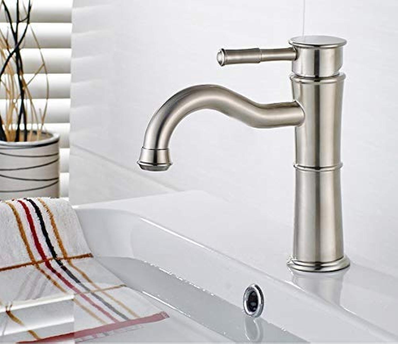 SEBAS Home Wasserhhne Bad Waschtischarmaturen Einlochmontage Griff Kalt Warmwasserhahn Edelstahl Wasser Mischbatterie Kranhhne