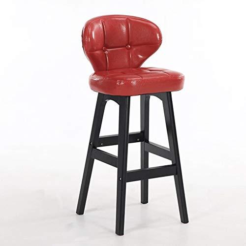 Planken Barkrukken, Barkruk met rugleuning, waterdicht, ademend en draagbaar, met rugleuning Stoel mode (Color : Red+black, Size : H61CM)