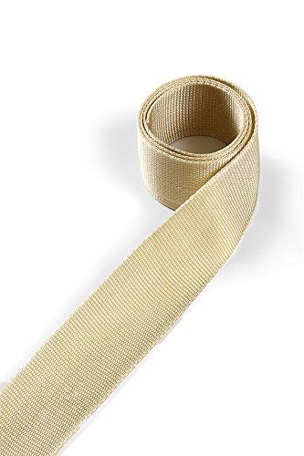 1buy3 Sangle en polypropylène 50mm de Largeur, 12 mètres de Longueur, Couleur: 3 - Beige Vert | également 20mm, 25mm, 30mm ou 40mm de Largeur | en 4 ou 12 mètres | 30 Coloris