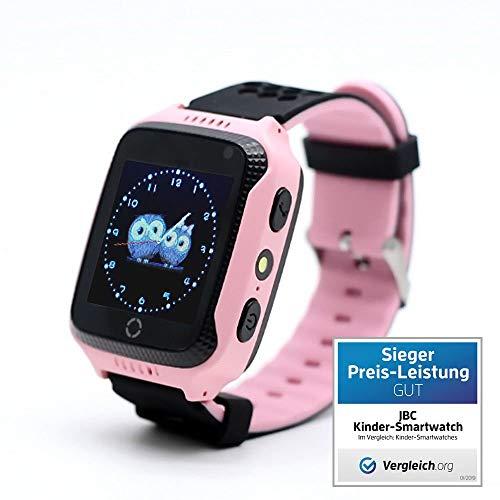JBC GPS Uhr Kinder Telefon GPS Schulmodus SOS Notruf Smartwatch Kinder Kinderuhr ohne Abhörfunktion/mit sicherem Deutschen Server SOS Notruf+Telefonfunktion/Anleitung+Uhr+App+Support: Deutsch(Pink)