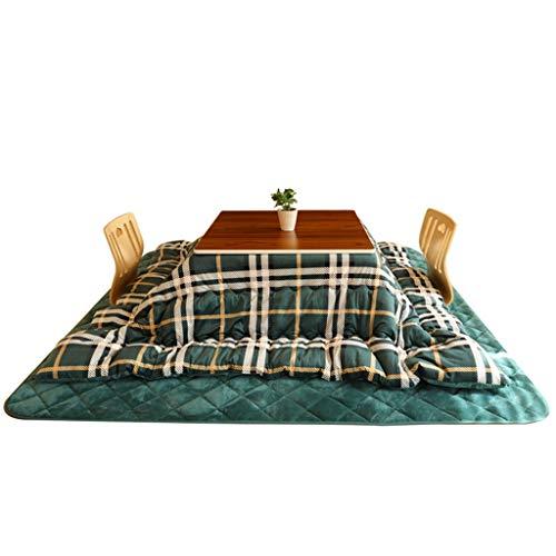 Couchtische Heiztisch Innen-Tatami-Heizung Innen-Klappheizung Kotatsu-Tisch Erker Innenheizung Niedriger Tisch (Color : Green, Size : 36 * 75cm)