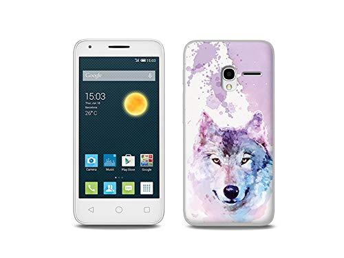 etuo Handyhülle für Alcatel One Touch PIXI 3 (4.5) - Hülle, Silikon, Gummi Schutzhülle - Traumwolf