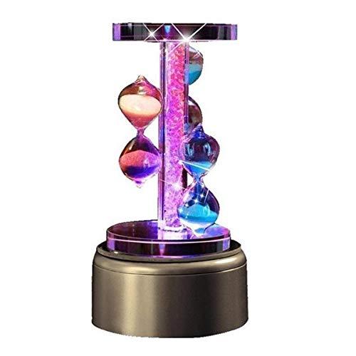 JINSUO NWXZU Sanduhr-Timer, Metall, Glas, mit Musik, Drehbare Eieruhr, Hauptküche Büro-Dekor, schönen Geschenk (Size : 1)